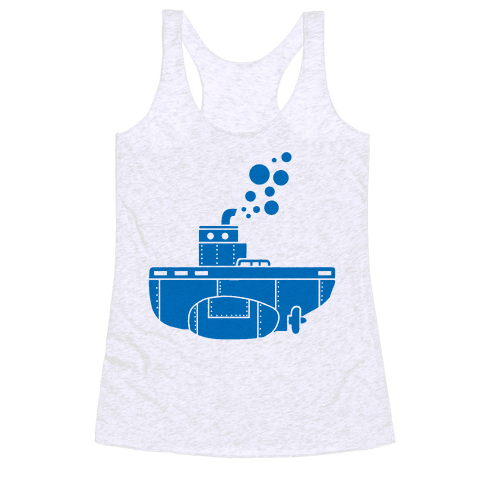 Nautical Submarine Racerback Tank Top