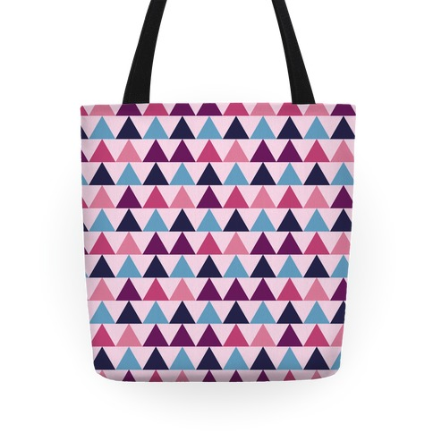 Triangle Pattern Tote (Pink) Tote