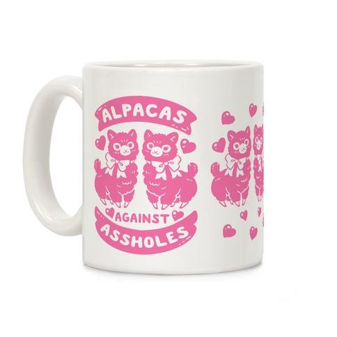 Alpacas Against Assholes Coffee Mug