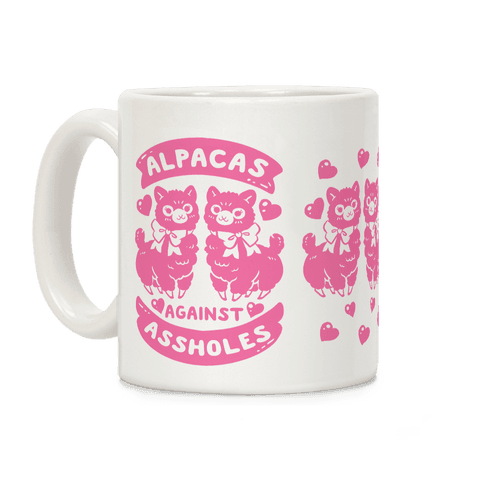 Alpacas Against Assholes Coffee Mug
