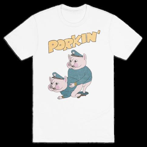 PORKIN' (VINTAGE) Mens T-Shirt