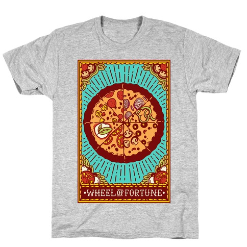 Pizza Wheel of Fortune Tarot Card T-Shirt