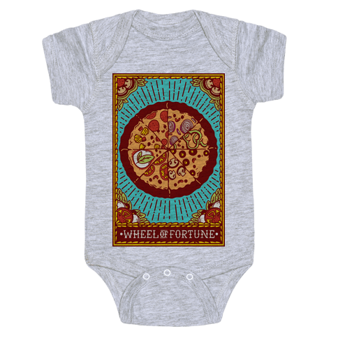 Pizza Wheel of Fortune Tarot Card Baby Onesy