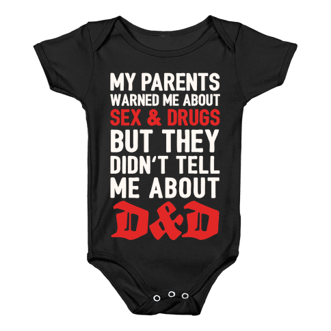 My Parents Didn't Warn Me About D&D Baby Onesy