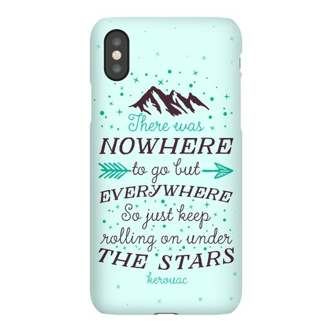 Just Keep Rolling On Under The Stars (Kerouac) Phone Case