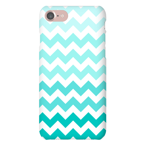 Teal Chevron Phone Case