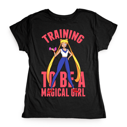 Training To Be A Magical Girl Womens T-Shirt