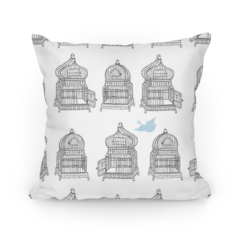 Open Birdcage Pillow