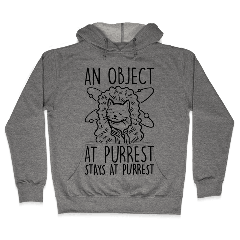An Object At Purrest Stays At Purrest Hooded Sweatshirt