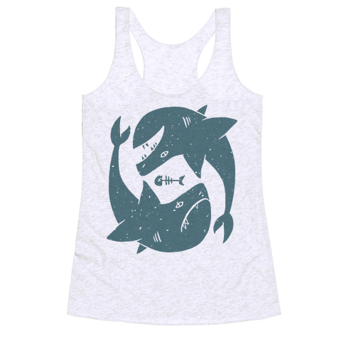 Infinite Sharks Racerback Tank Top