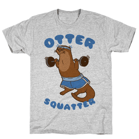 Otter Squatter Mens T-Shirt