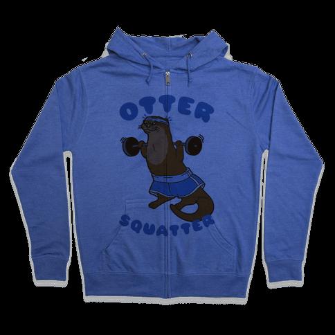 Otter Squatter Zip Hoodie