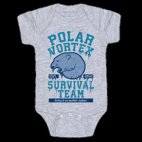 Polar Vortex Survival Team Baby Onesy