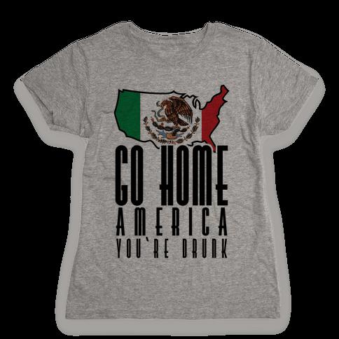 Drunk America Womens T-Shirt