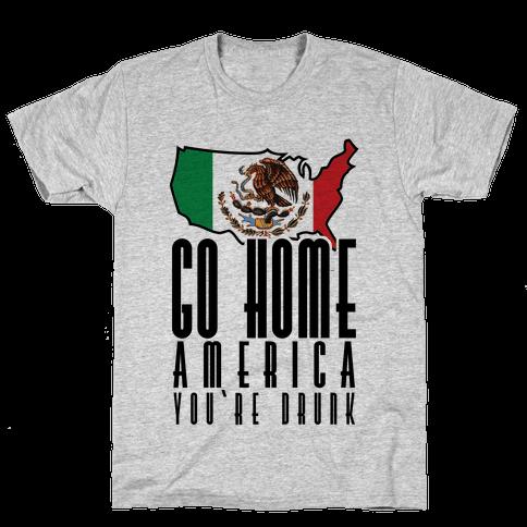 Drunk America Mens T-Shirt
