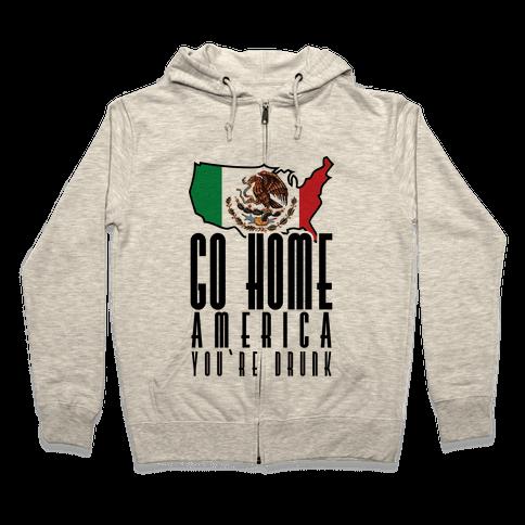 Drunk America Zip Hoodie