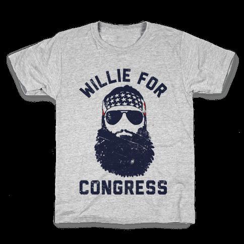 Willie For Congress  Kids T-Shirt
