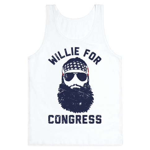 Willie For Congress  Tank Top