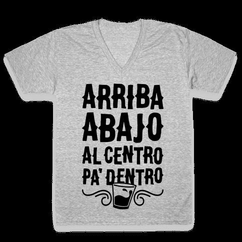 Arriba Abajo Al Centro Pa' Dentro V-Neck Tee Shirt