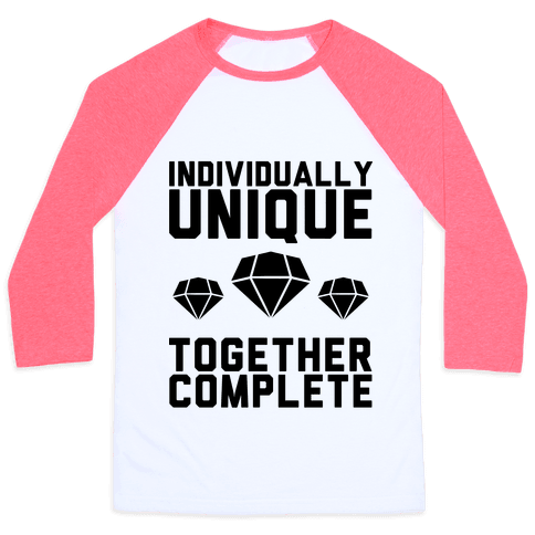 Individually Unique Together Complete Baseball Tee