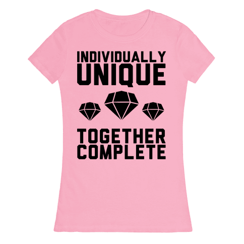 Individually Unique Together Complete Womens T-Shirt
