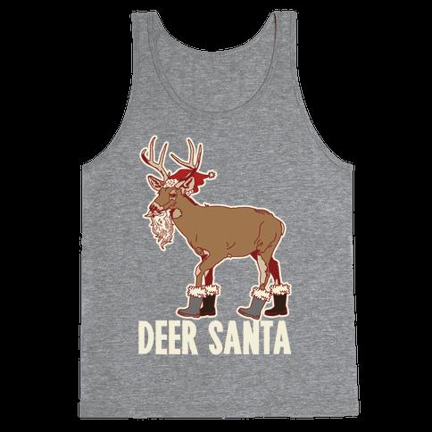 Deer Santa Tank Top