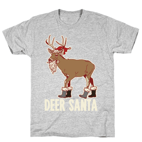 Deer Santa Mens T-Shirt