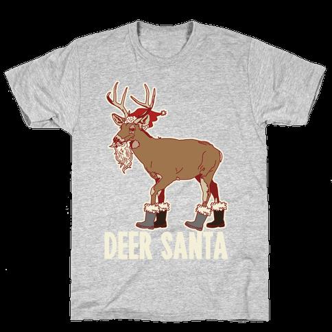 Deer Santa Mens T-Shirt