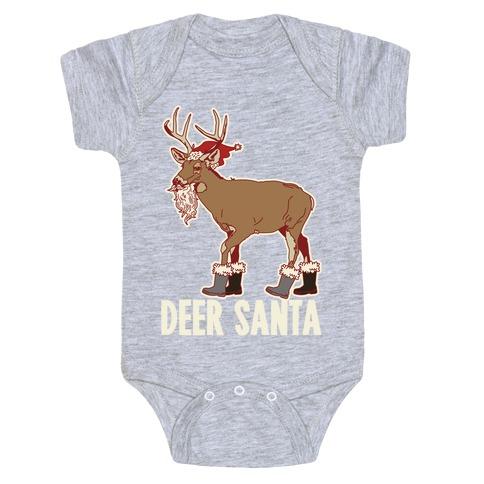 Deer Santa Baby Onesy