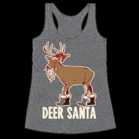 Deer Santa Racerback Tank Top