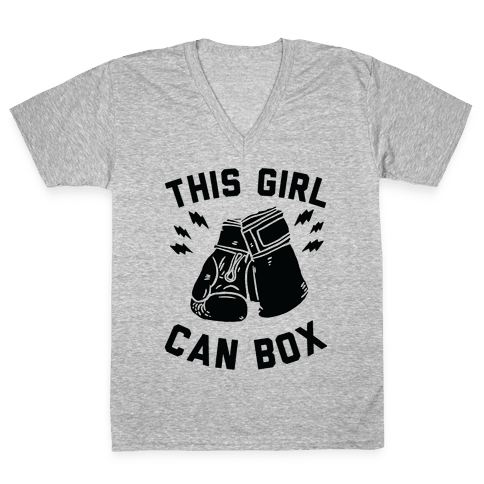 This Girl Can Box V-Neck Tee Shirt