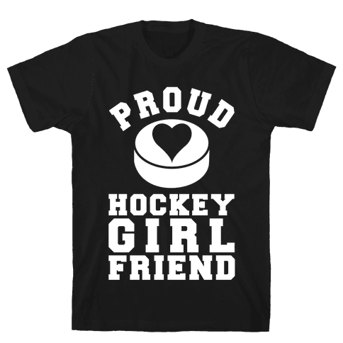 Proud Hockey Girlfriend Mens T-Shirt