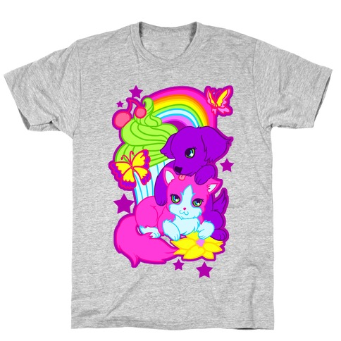 Double Trouble Rainbow Kitty & Puppy T-Shirt