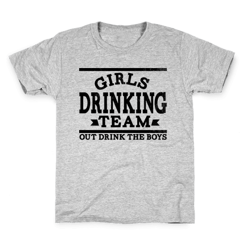 Girls Drinking Team Kids T-Shirt
