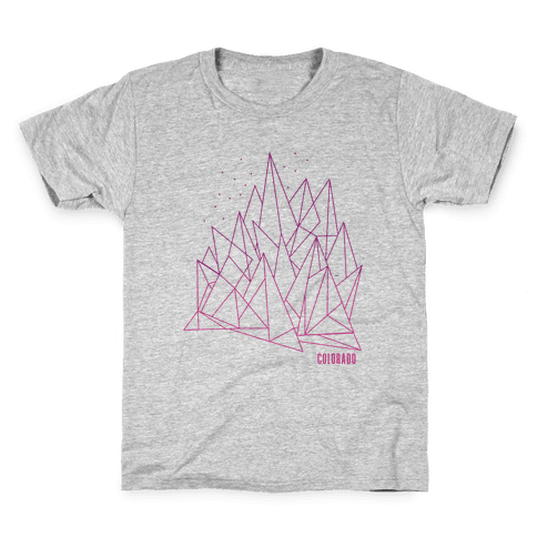 Colorado Mountains Pink Kids T-Shirt