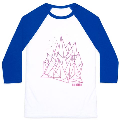 Colorado Mountains Pink Baseball Tee