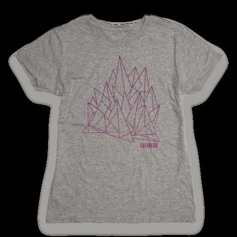 Colorado Mountains Pink Womens T-Shirt