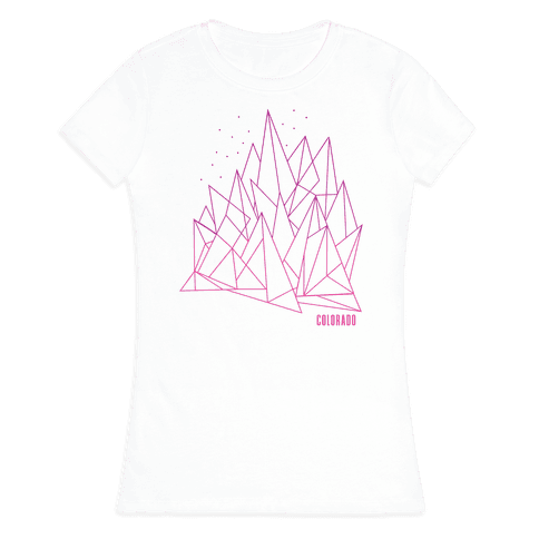 Colorado Mountains Pink Womens T-Shirt