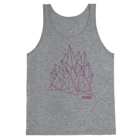 Colorado Mountains Pink Tank Top