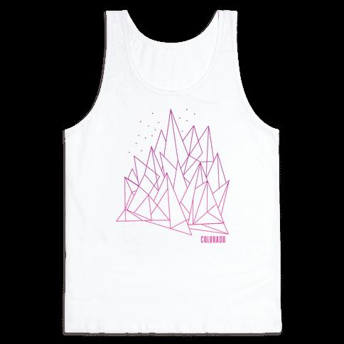Colorado Mountains Pink Tank Top