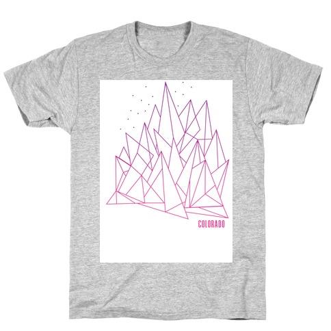 Colorado Mountains Pink T-Shirt
