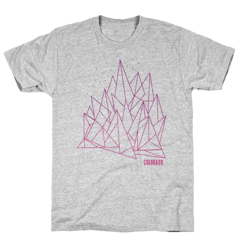 Colorado Mountains Pink Mens T-Shirt