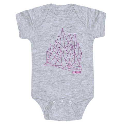 Colorado Mountains Pink Baby Onesy
