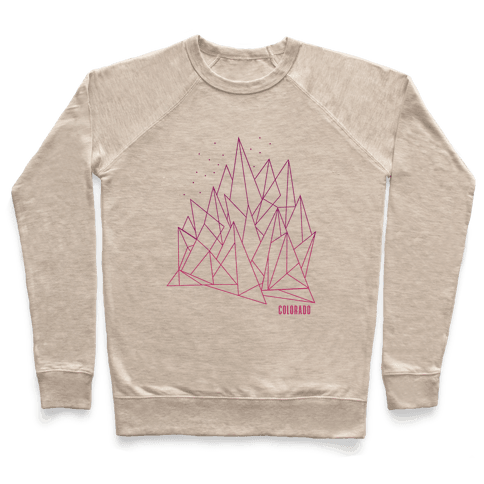 Colorado Mountains Pink Pullover