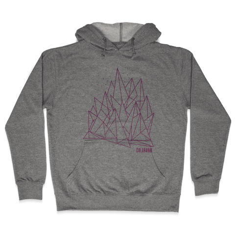 Colorado Mountains Pink Hooded Sweatshirt