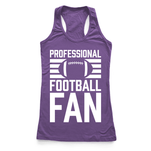 Professional Football Fan Racerback Tank Top