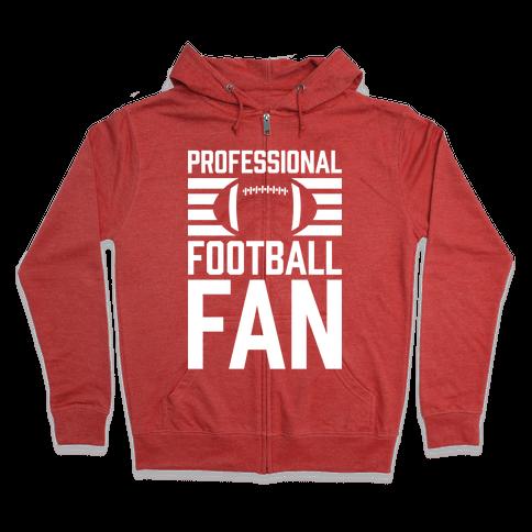 Professional Football Fan Zip Hoodie