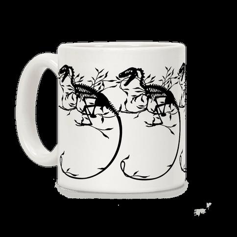 Floral Dinosaur Coffee Mug