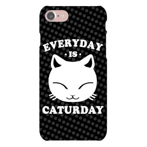 Everyday Is Caturday Phone Case