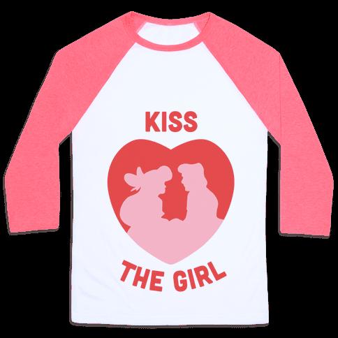 Kiss The Girl Baseball Tee